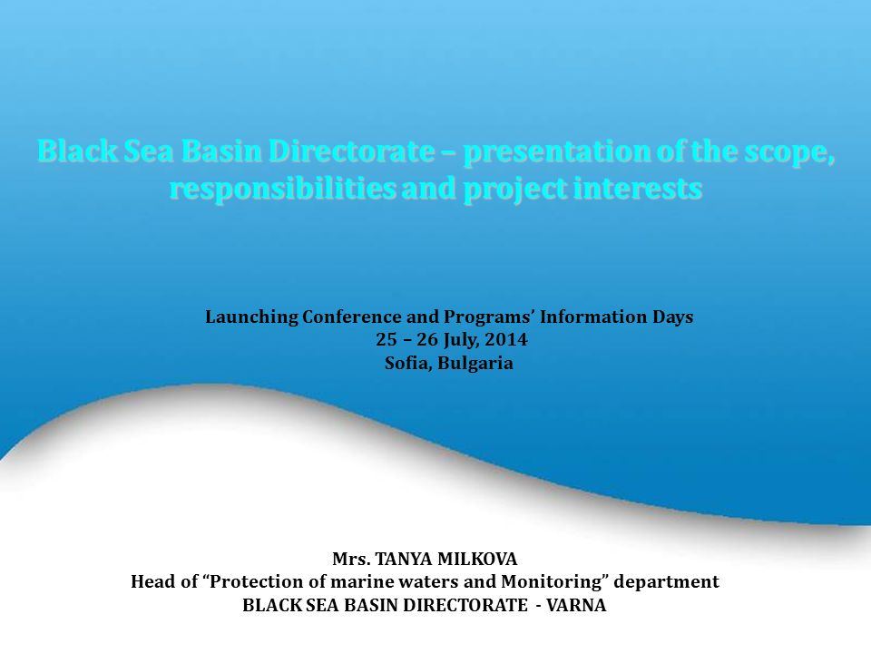 Powerpoint Templates Page 1 Powerpoint Templates Black Sea Basin Directorate – presentation of the scope, responsibilities and project interests Mrs.
