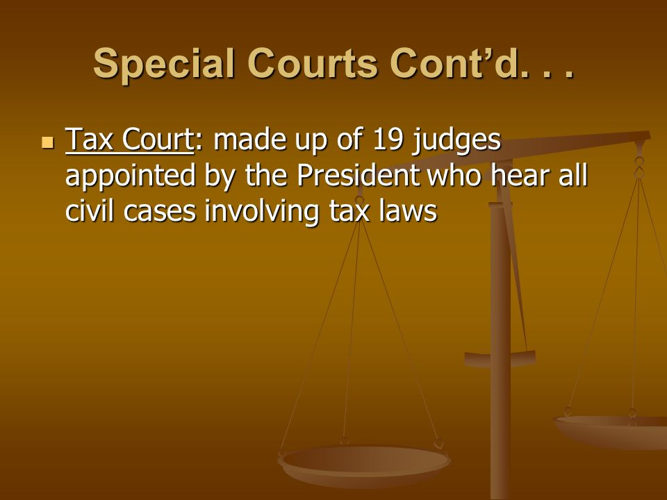 Special Courts Cont'd...