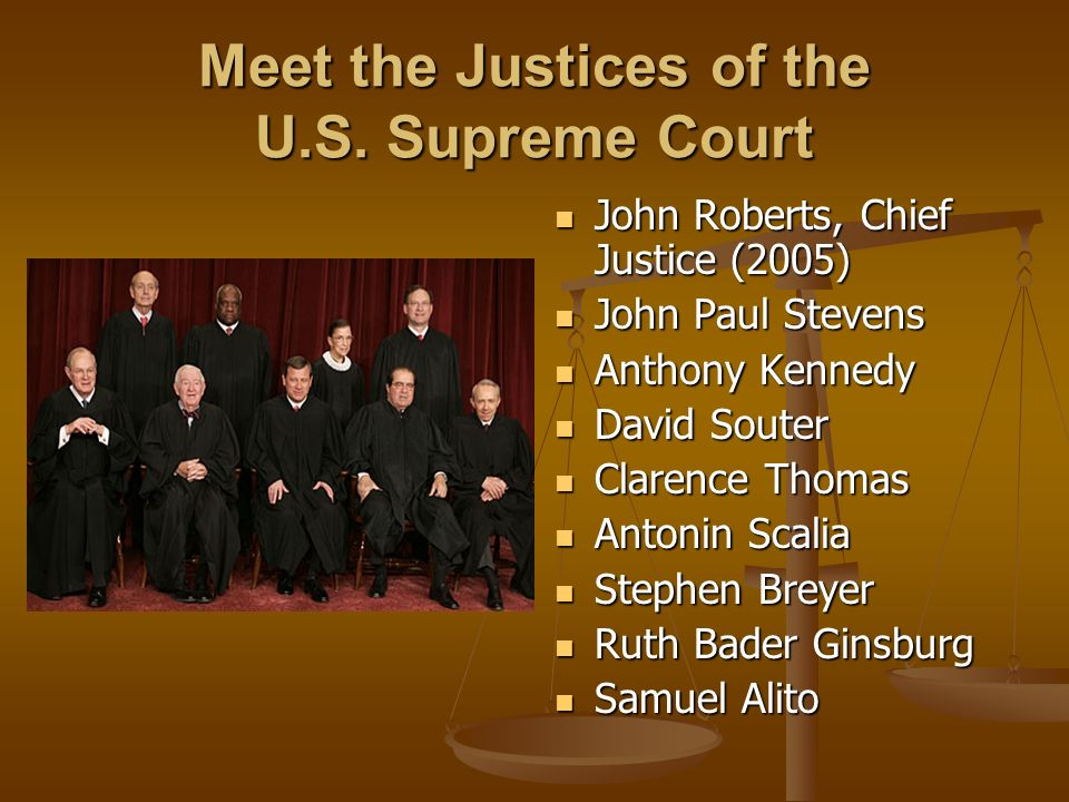 Meet the Justices of the U.S.