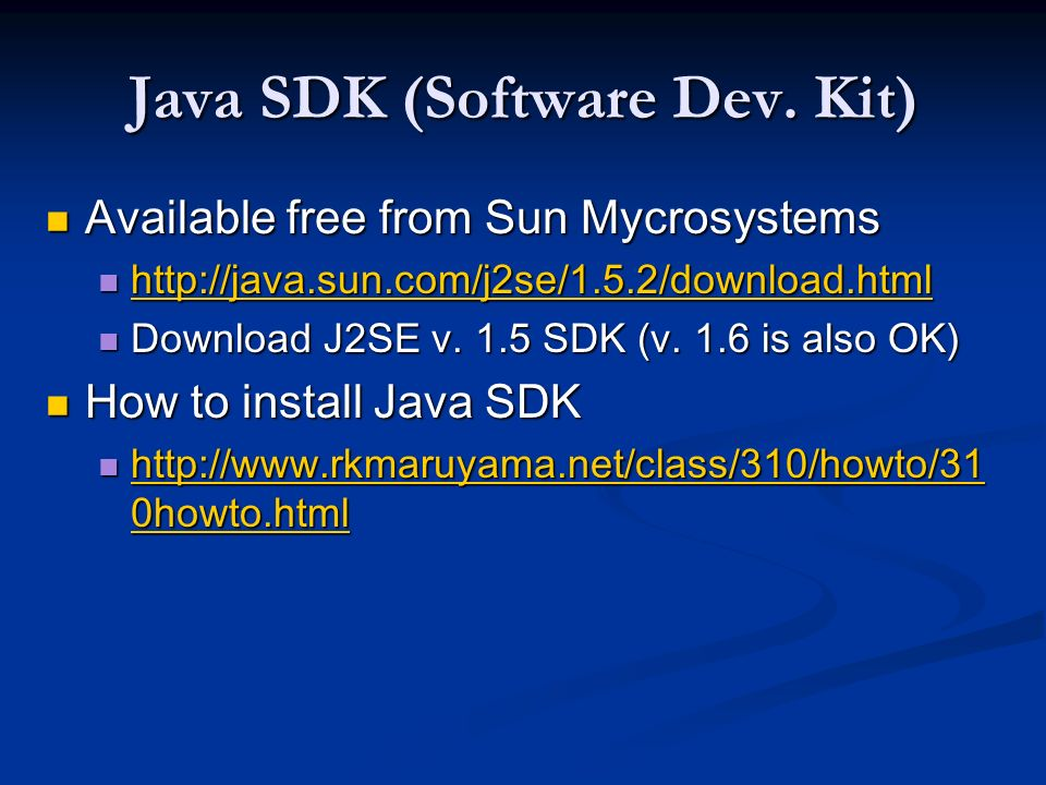 Jdk 1. 6 free download.