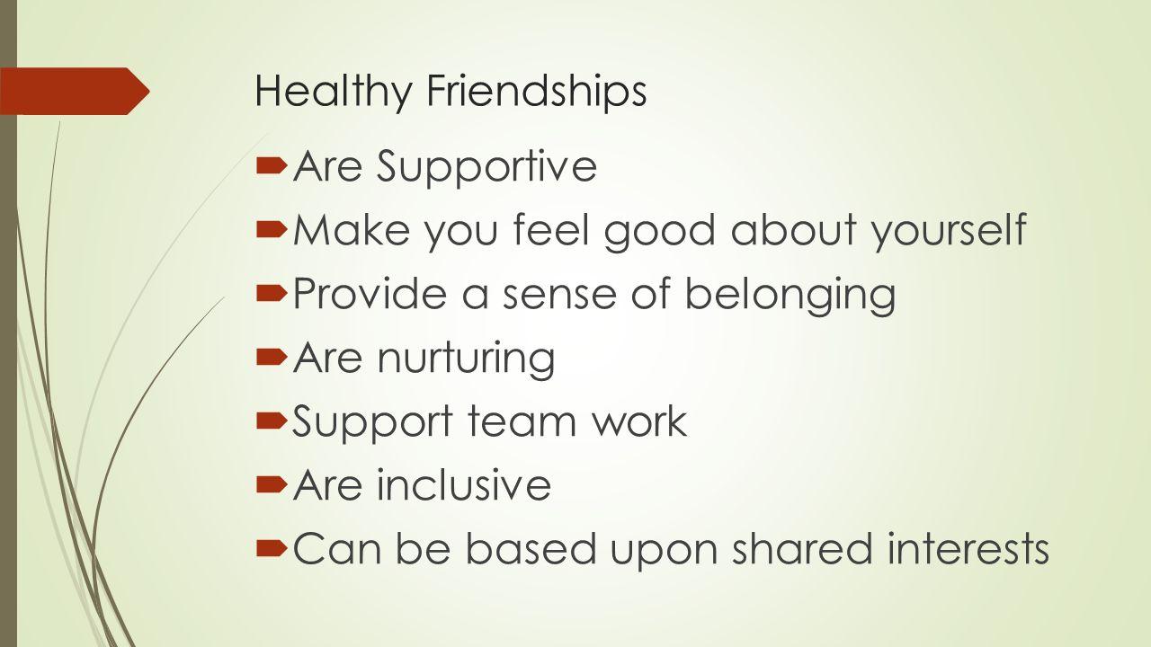 pics Healthy Friendships