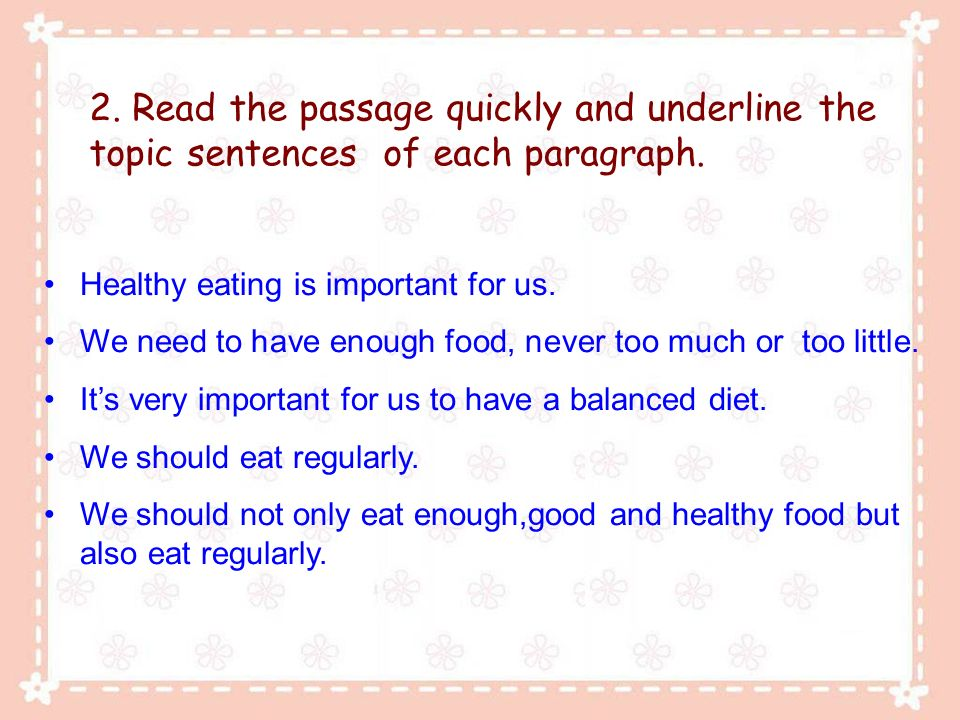 healthy eating paragraph