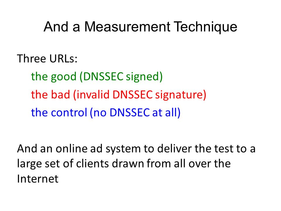 Measuring DNSSEC Use Geoff Huston APNIC  Some Questions… Who