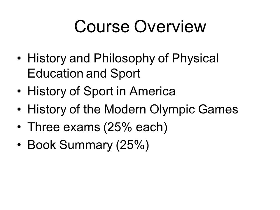 history of physical education summary