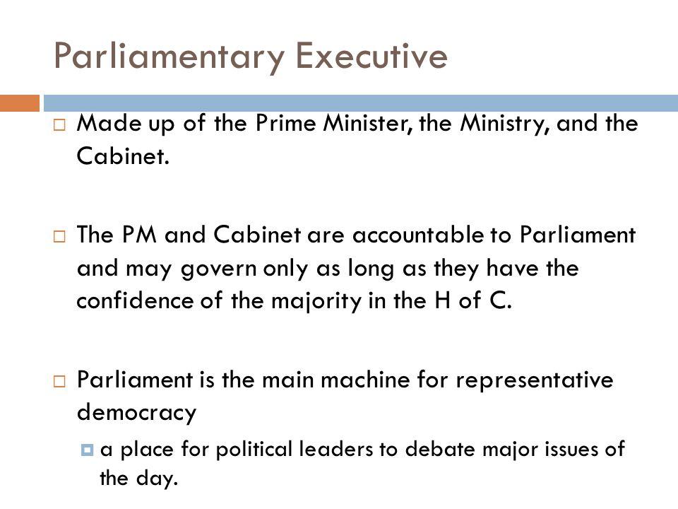 parliamentary executive