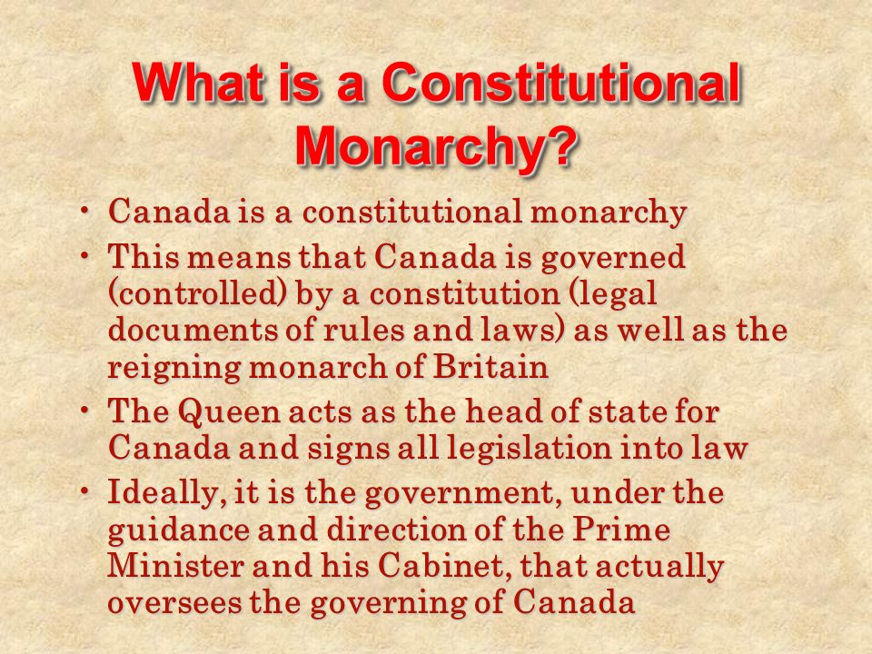 Structure Of The Canadian Federal Government Origins Of The - Legal documents canada