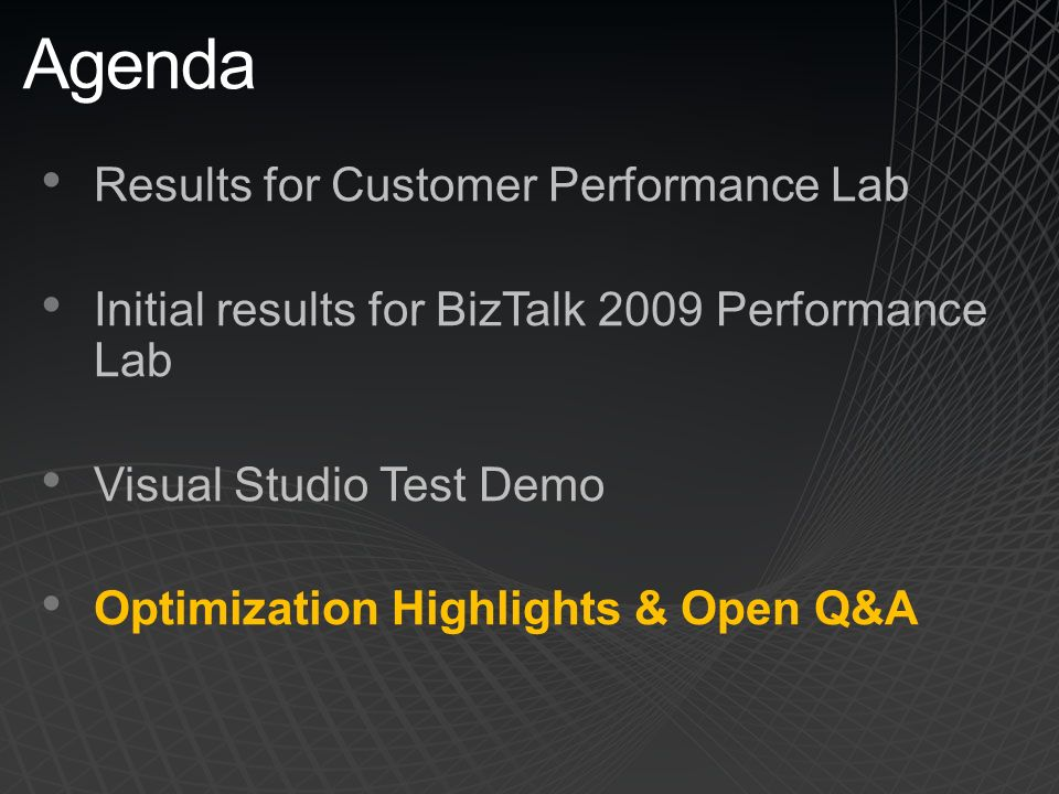 BizTalk 2009 Performance Ewan Fairweather Tim Wieman Paolo Salvatori BizTalk Customer Advisory Team (CAT) Microsoft Corporation SBPCT ppt download - 웹