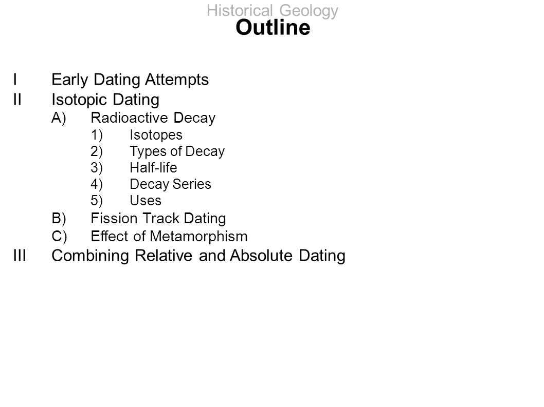 types of dating in geology