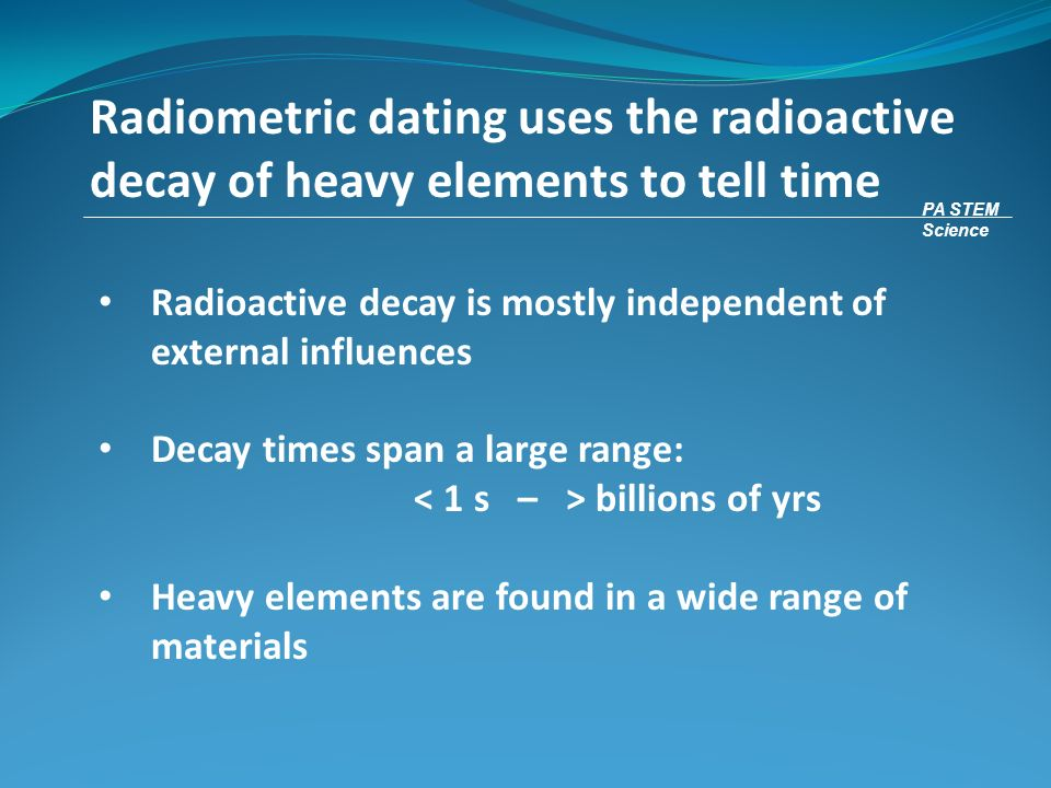 origin of radiometric dating online dating waste of time