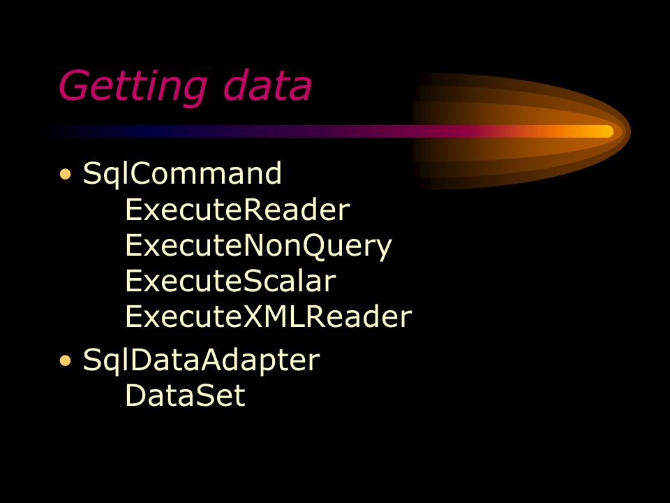 sqlcommand executenonquery vs executereader