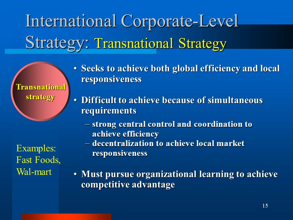 1 International Strategy Chapter 8 How do we become a Global