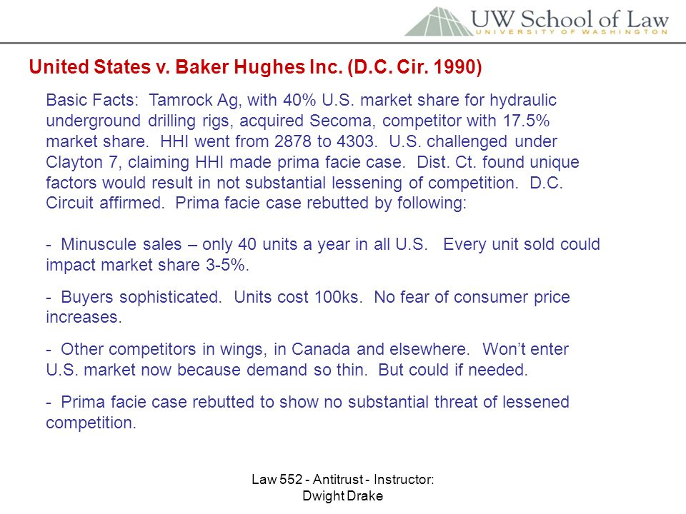 Law Antitrust - Instructor: Dwight Drake Hospital Corp of America v