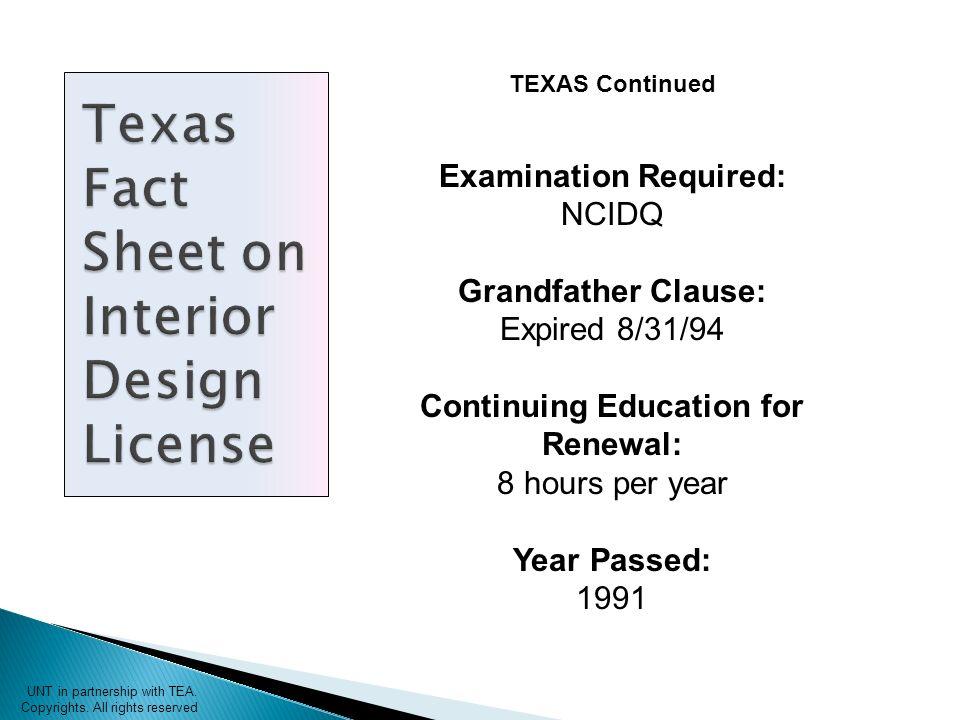 Interior Design License Requirements Unt In Partnership With Tea