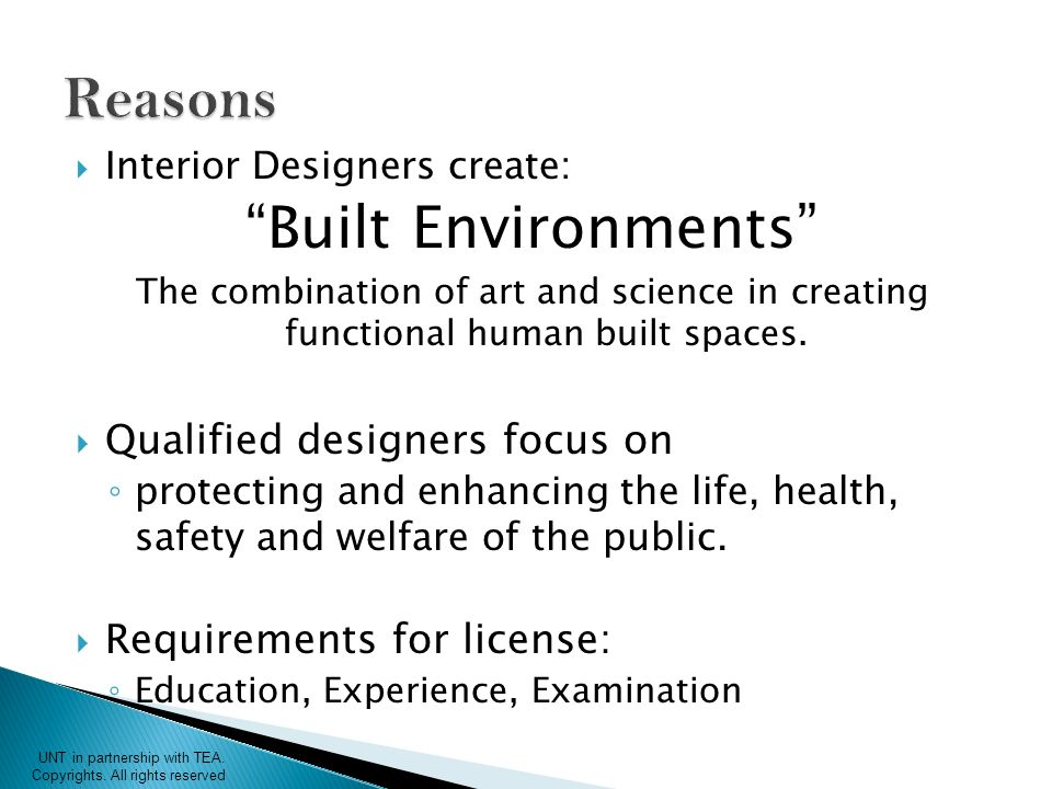 Interior Designers Create: Built Environments The Combination Of Art And  Science In Creating Functional