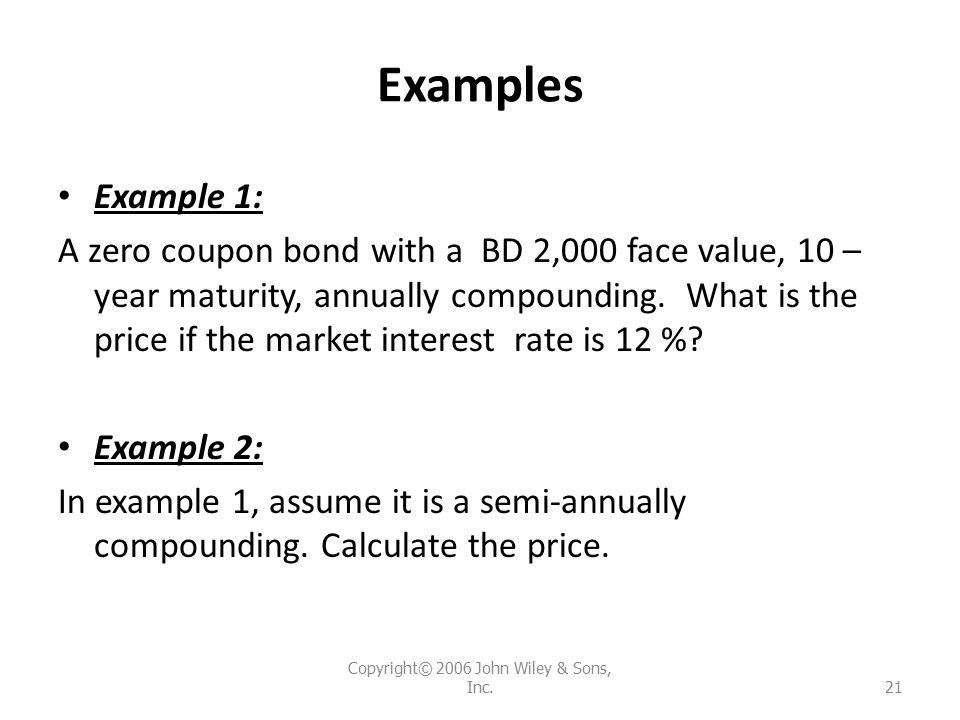 Calculating Zero-Coupon Bond Price