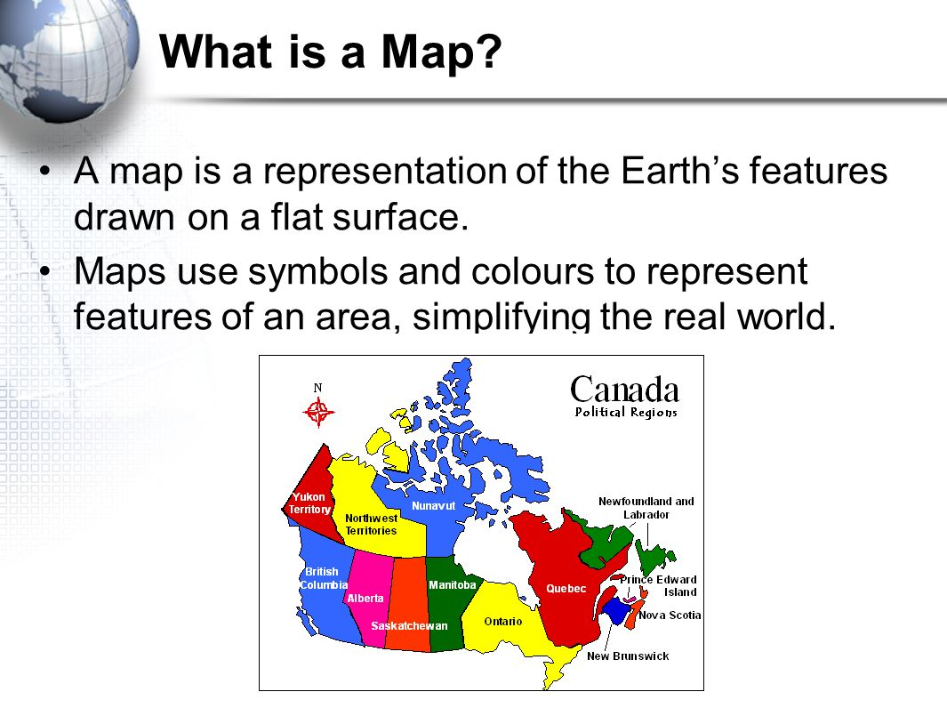 Geography Of Canada Geographers Toolkit 1rts Of A Map Map