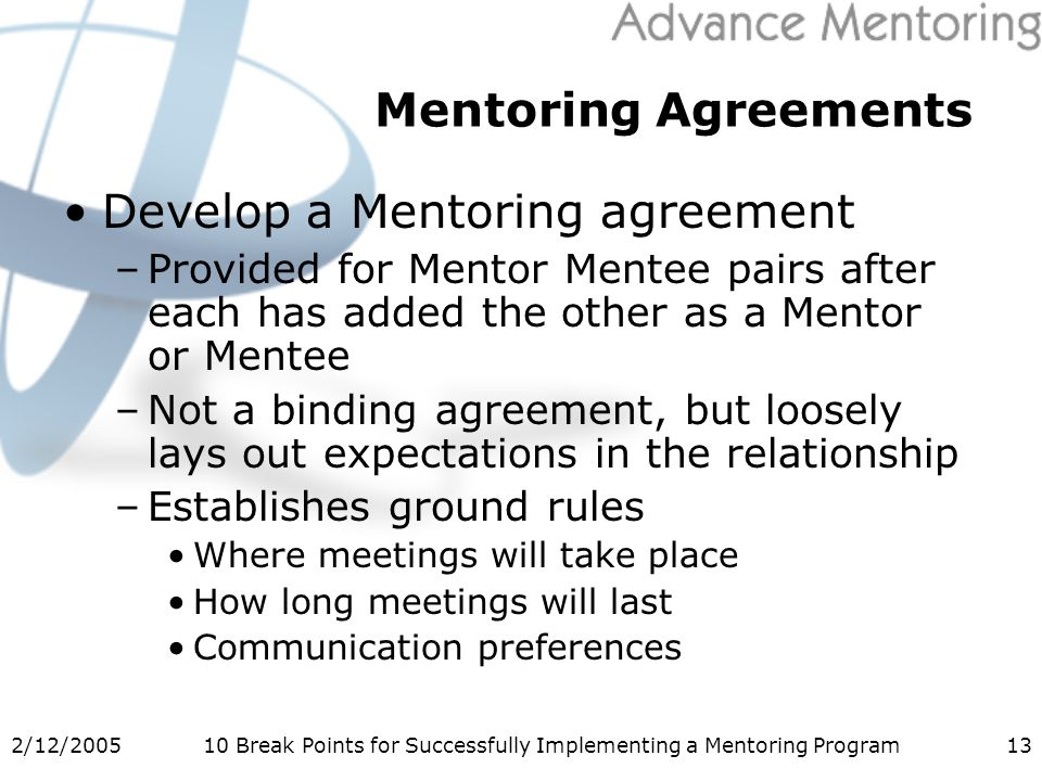 212 Break Points For Successfully Implementing A Mentoring