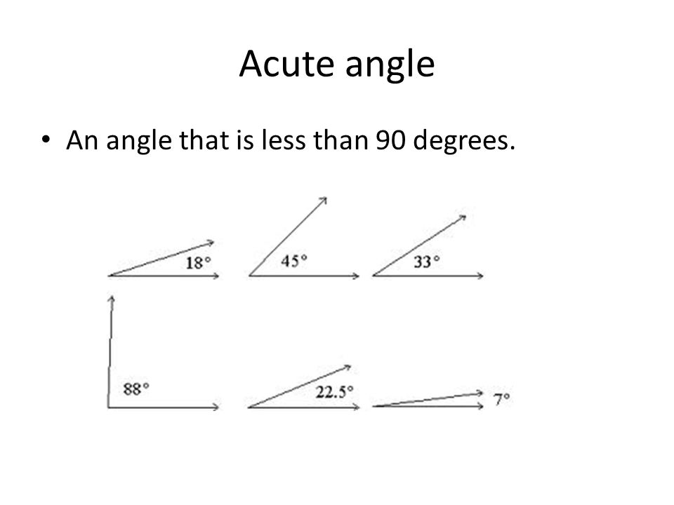 unit 5 vocab by gus koza acute angle an angle that is less than 90