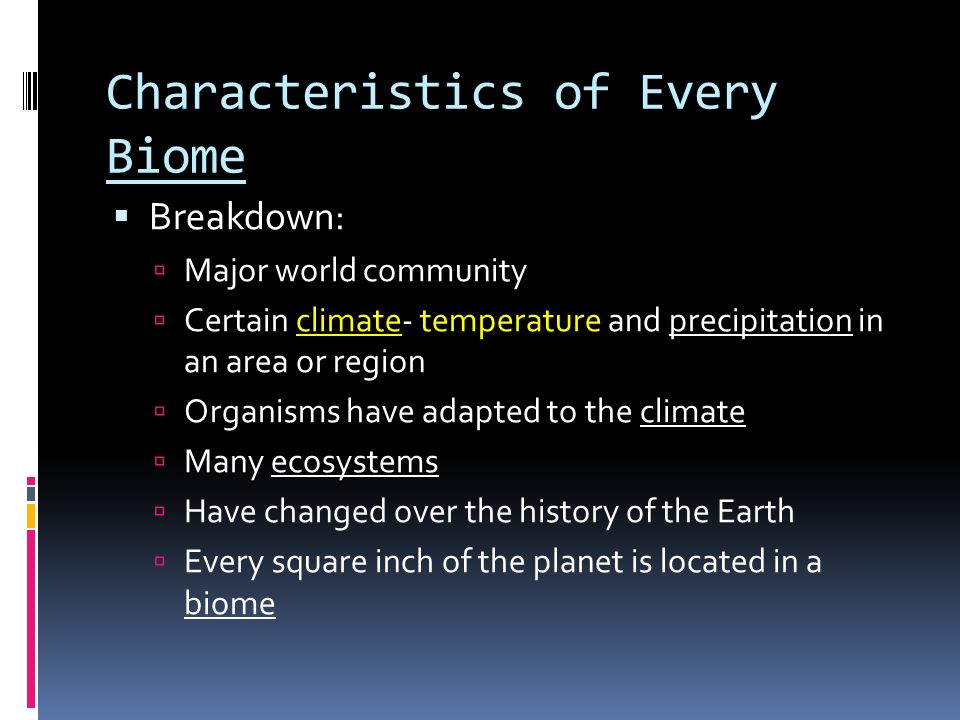 So what What does this mean and why do we care about biomes