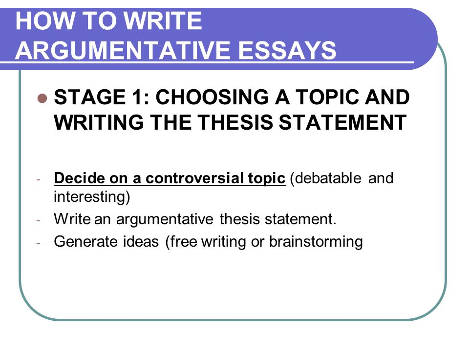English Class Reflection Essay How To Write Argumentative Essays Stage  Choosing A Topic And Writing The  Thesis Statement High School Personal Statement Essay Examples also Essay Proposal Format Argumentative Essay Argumentation The Aim Of Writing Argumentative  Synthesis Essays