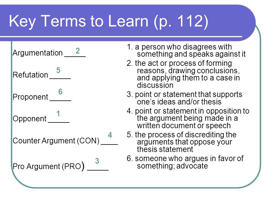 Argumentative Essay Argumentation The Aim Of Writing Argumentative   Key