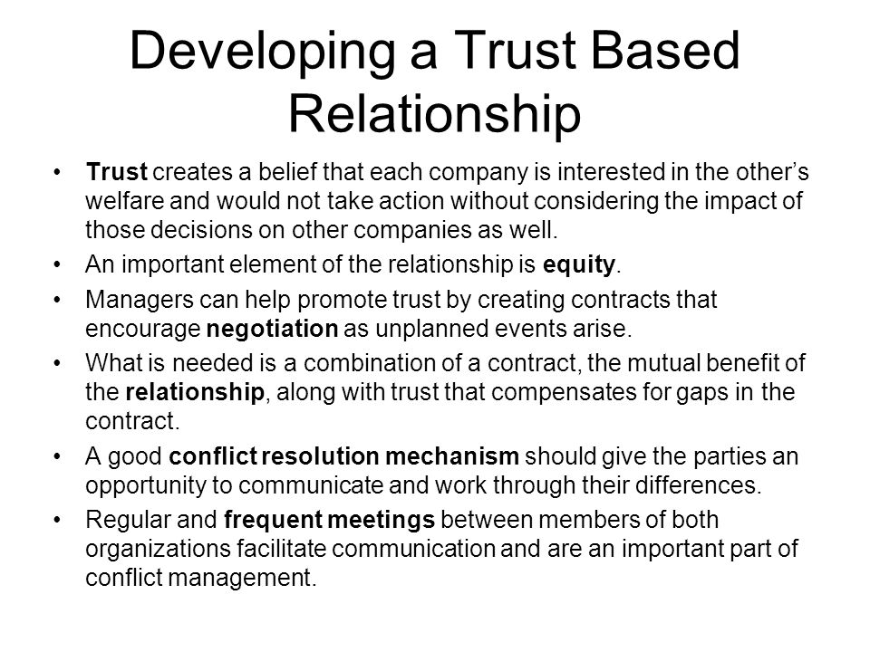 can a relationship work without trust