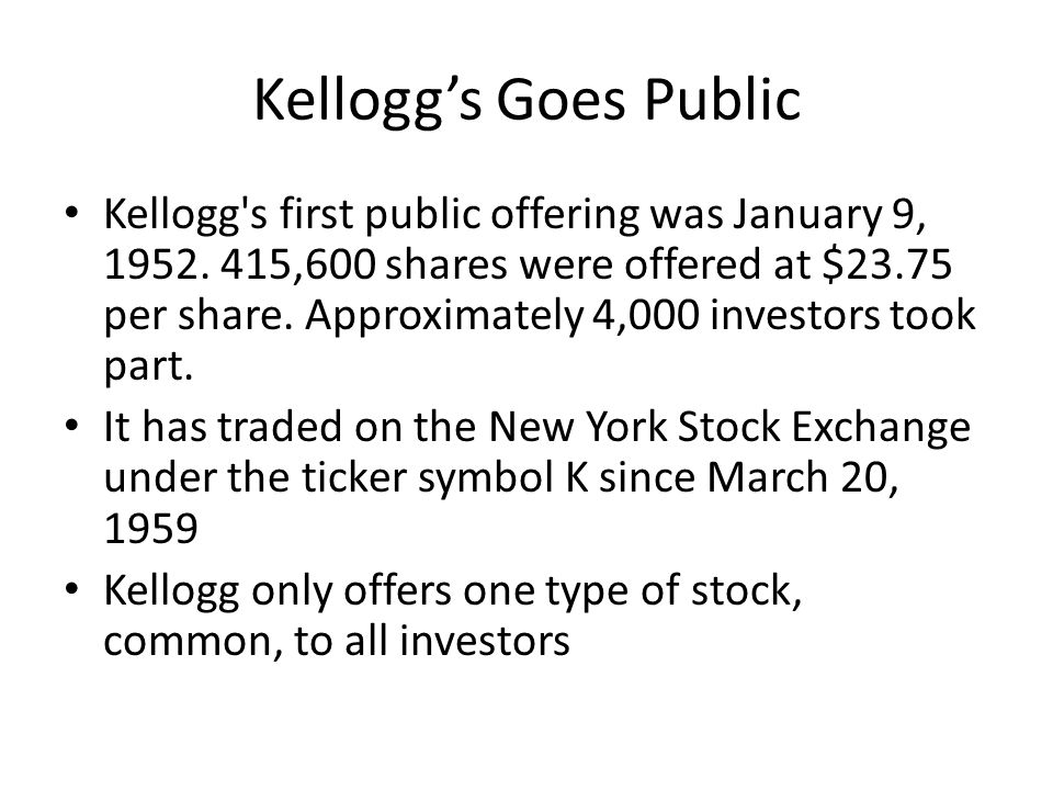 Kellogg Stock Symbol Image Collections Meaning Of This Symbol