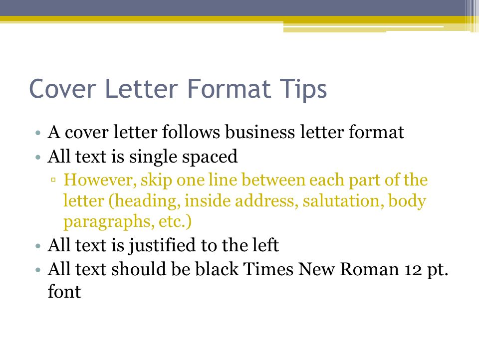 cover letters and resumes notes cover letter format tips a cover