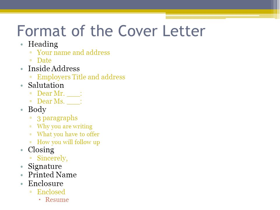 what is an enclosure on a cover letters
