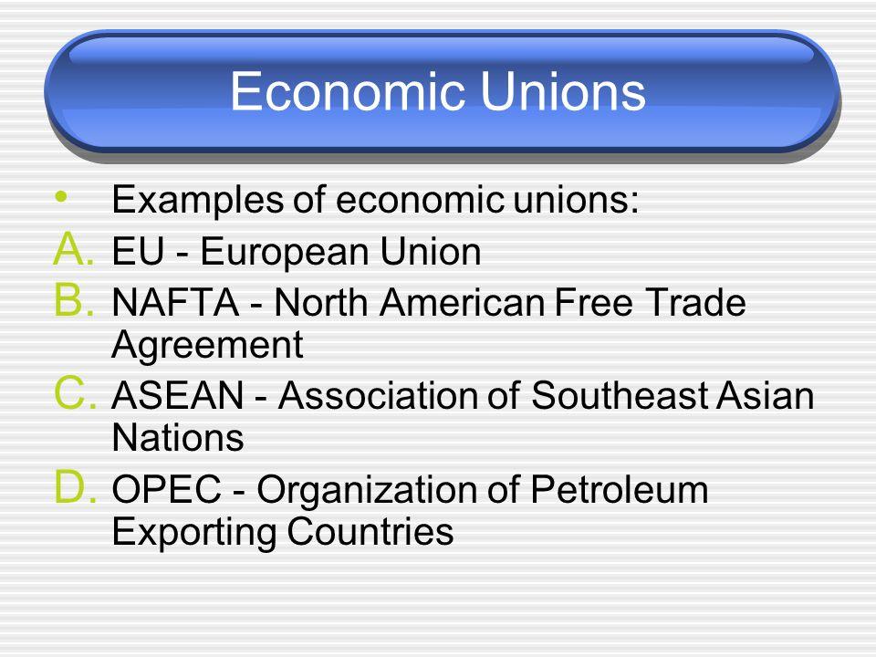 Economic Geography Economic Unions Sol Wg9d Economic Unions