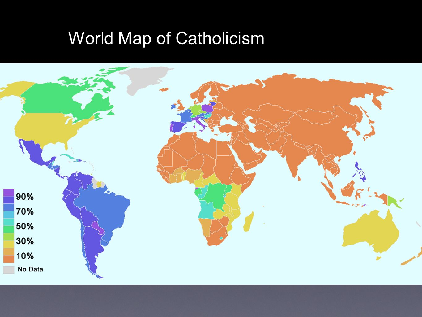 Catholic counter reformation the catholic church responded to the 10 world map of catholicism gumiabroncs Gallery