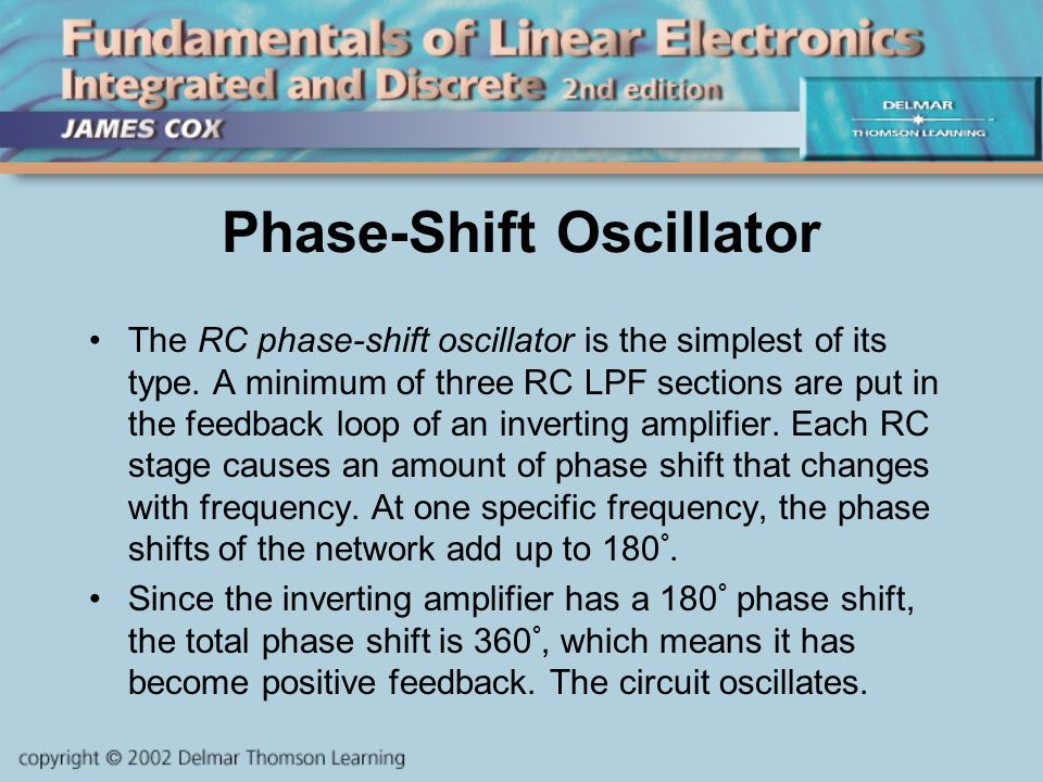 CHAPTER 13 Sine Wave Oscillator Circuits  Objectives