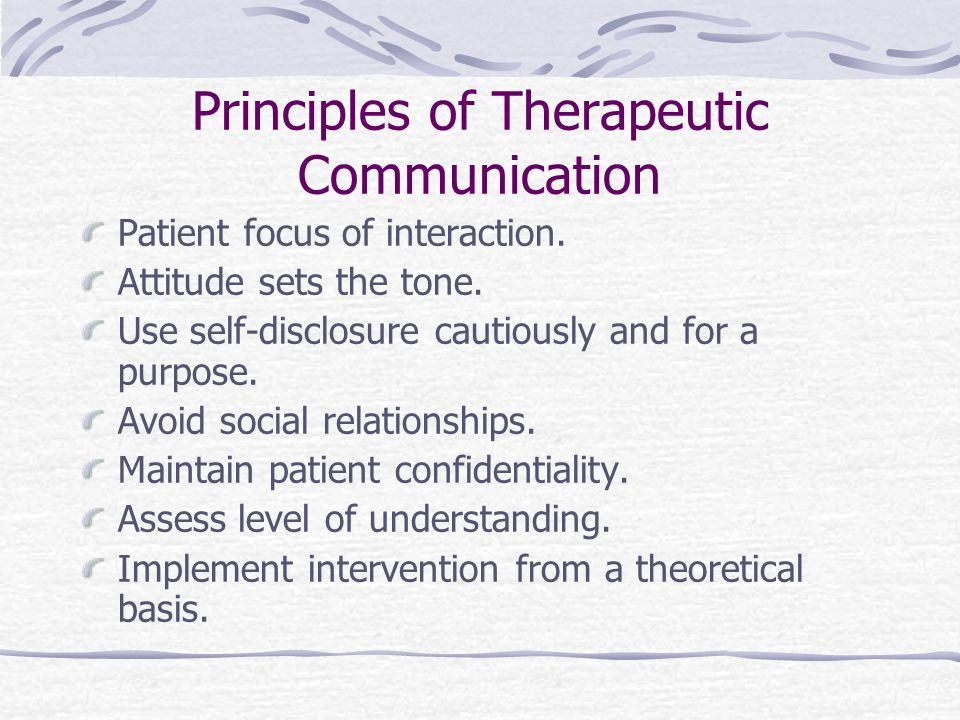 Communication and the Therapeutic Relationship Chapter 10 Nursing