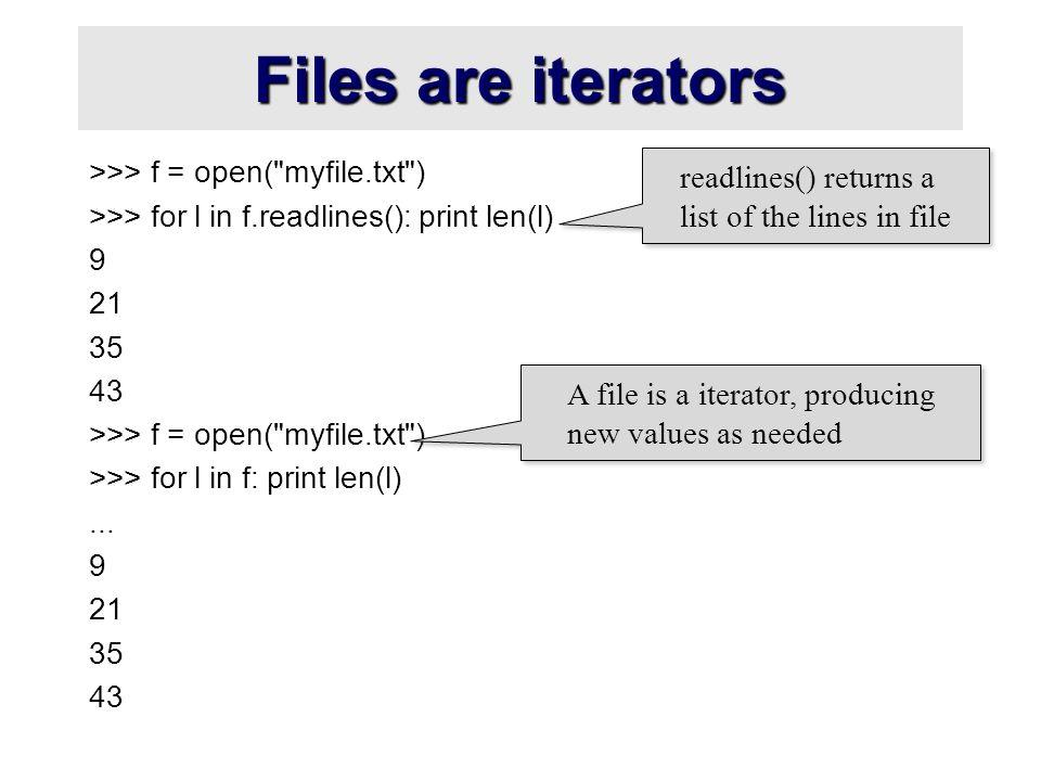 Python iterators and generators  Iterators and generators
