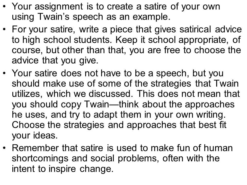 advice to youth mark twain analysis