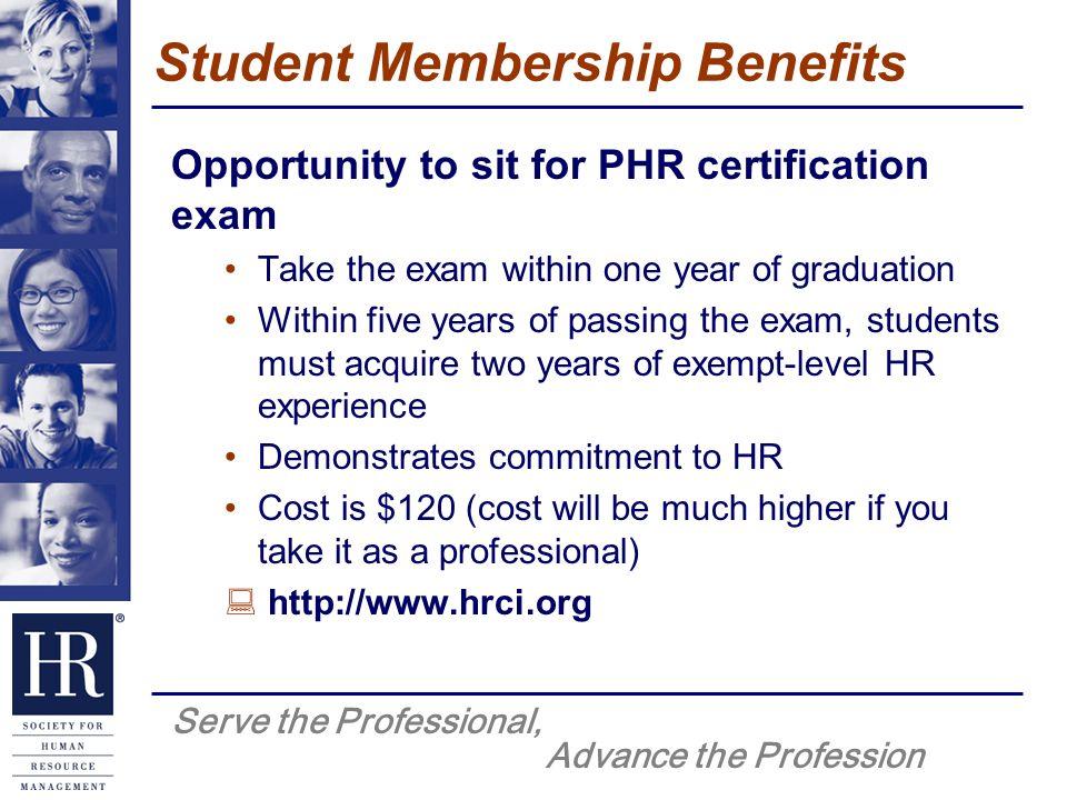 Serve The Professional Advance The Profession Shrm Student Member