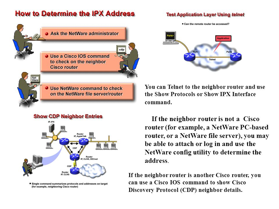 Ipx network protocol, ipx sap, novell netware network.