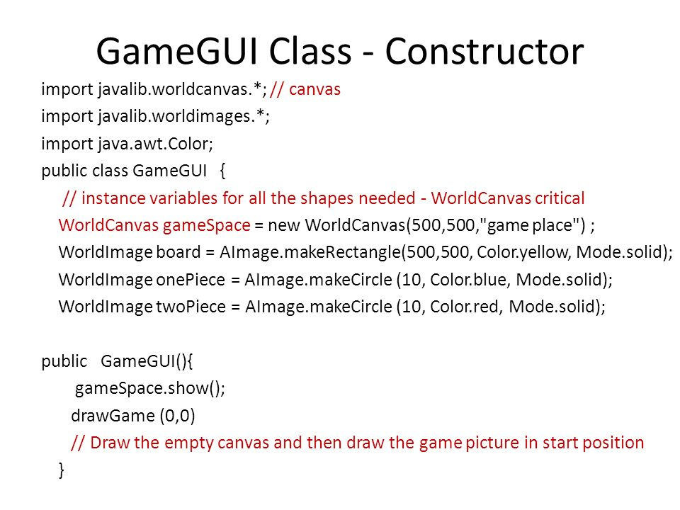 Picture It Game with GUI Control Class Pepper  Class Diagram Game