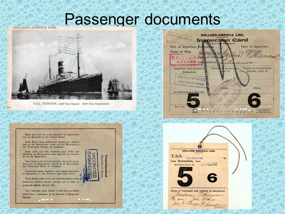 Passenger documents