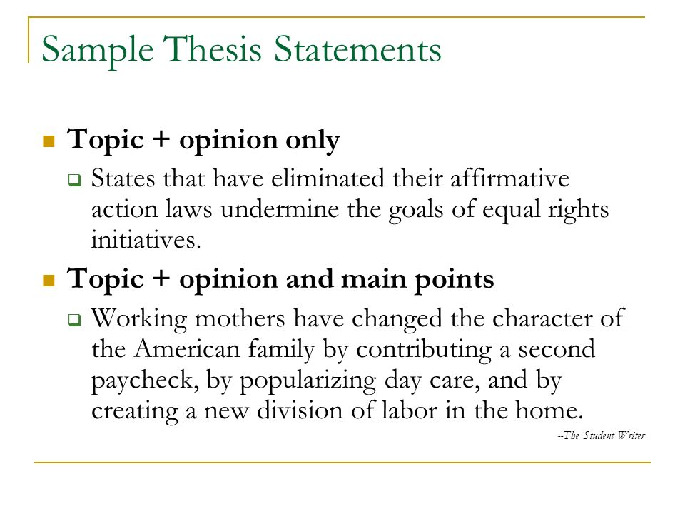 thesis statement definition