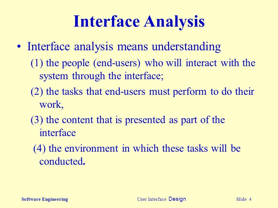 Software Engineering User Interface Design Slide 1 User Interface Design Ppt Download