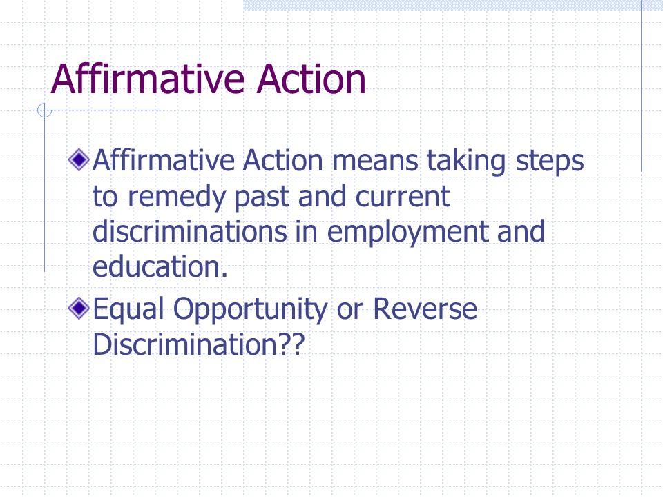 reverse discrimination in education