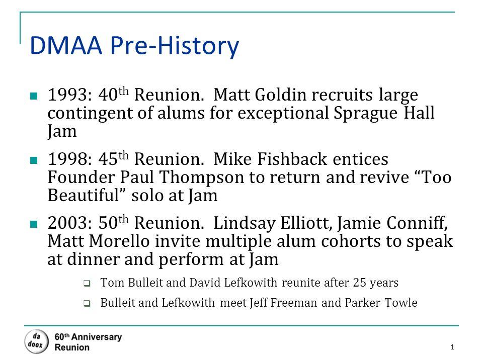 Duke ' s Men of Yale Alumni Association, Inc  (DMAA) A Brief History