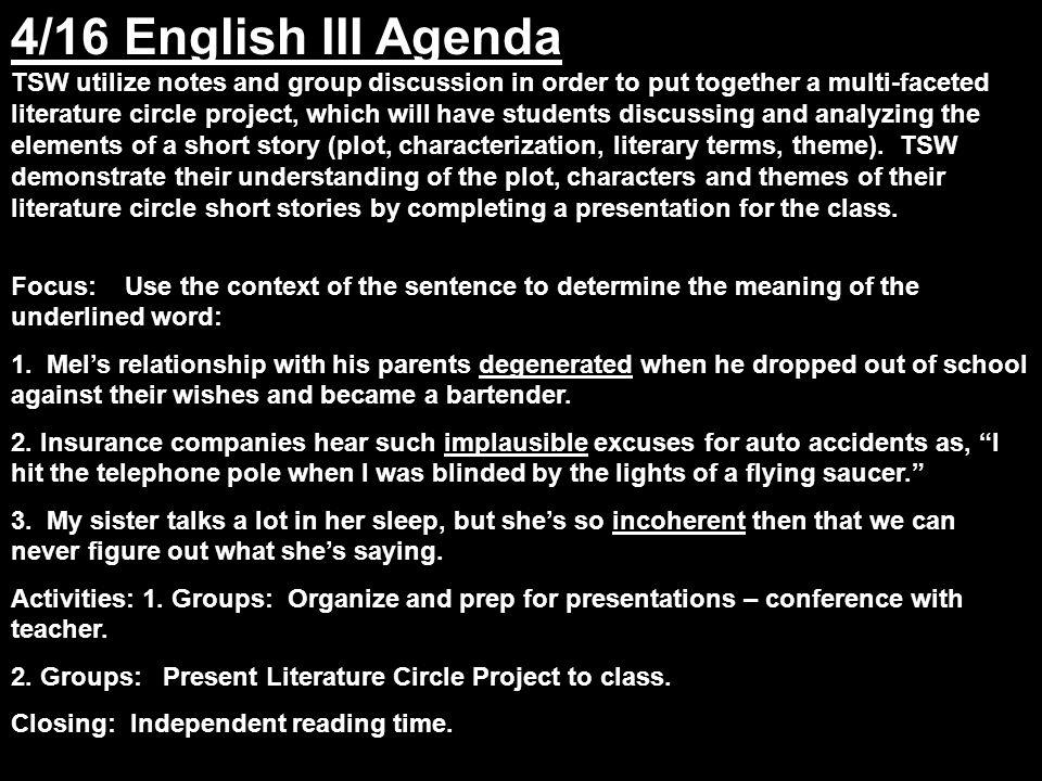 the white circle short story summary