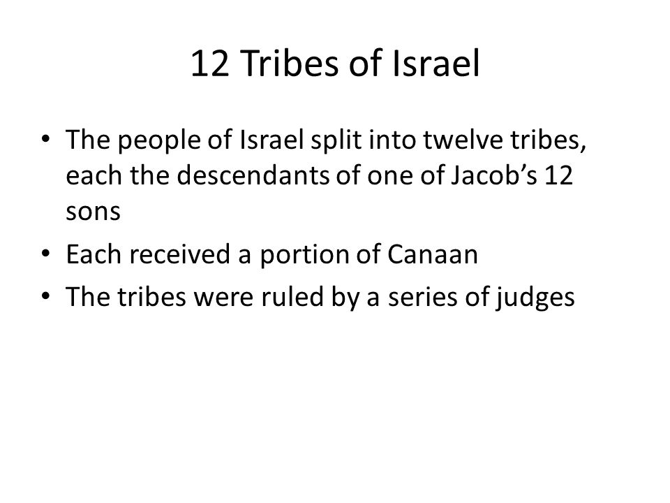 why did the 12 tribes of israel split