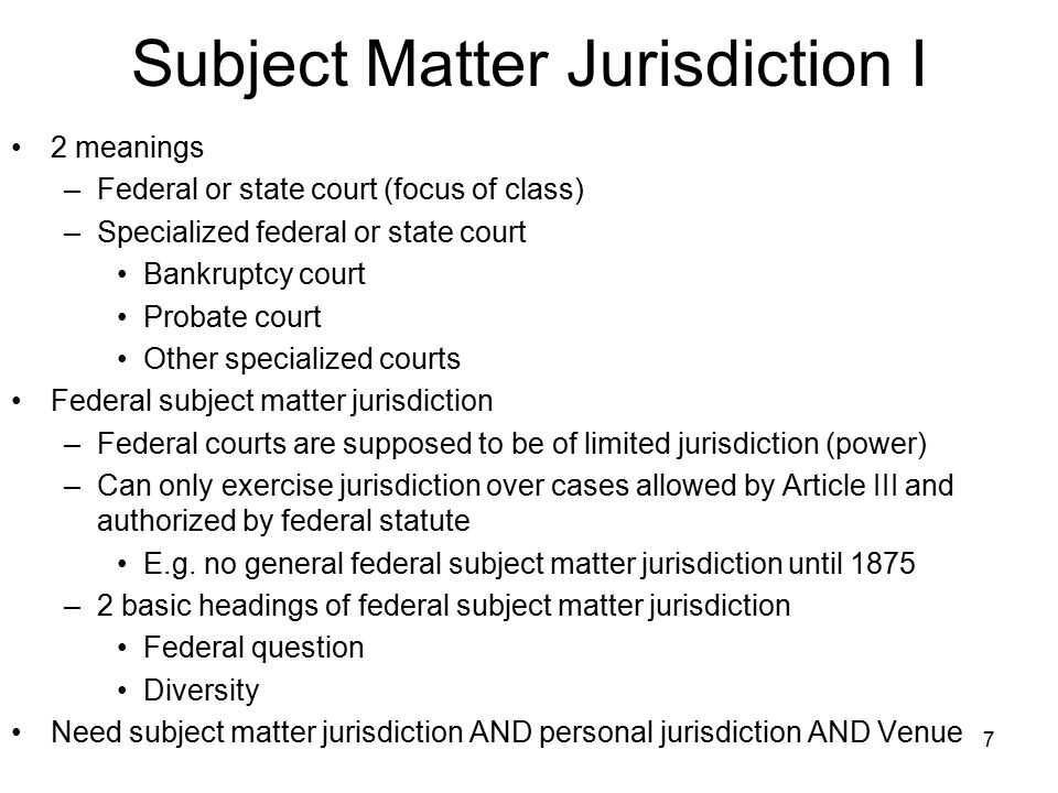 venue jurisdiction