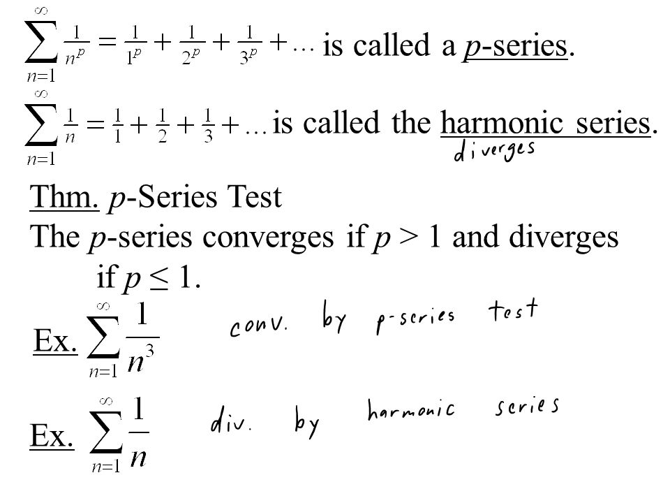 Integral Test So far, the n th term Test tells us if a