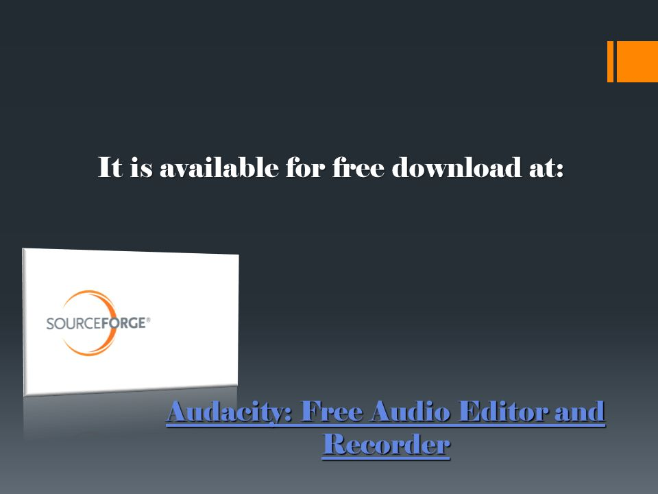 By: Jenna Hicks Audacity and WordPress  An open-source audio editor