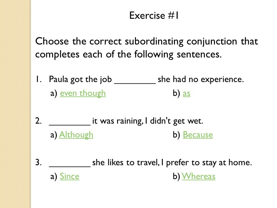 sentences with even though examples