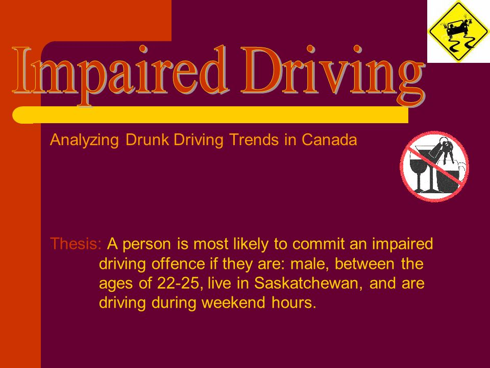 drunk driving thesis